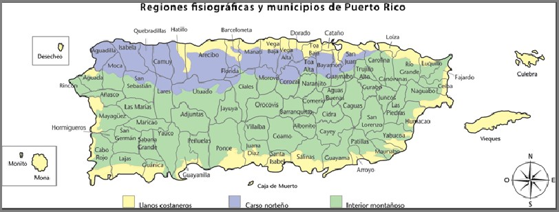 How do you find a map of Puerto Rico that includes cities?